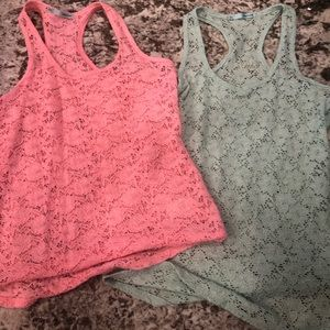 Maurice's lace tanks lot of 2